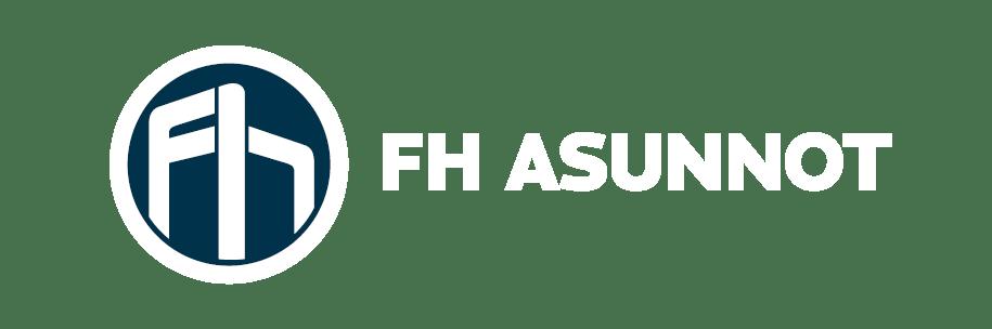 FH Asunnot valkoinen logo